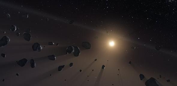 Kuiper Belt's ice cores. Credit: ESO/M. Kornmesser