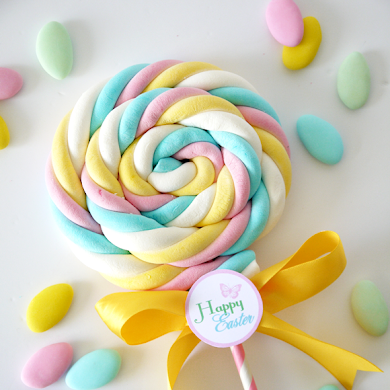 DIY Marshmallow Lollipops & Free Easter Tags