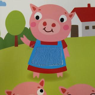 Les Trois Petits Cochons Texture tablier maman Cochon