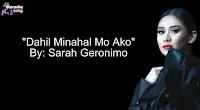 Dahil Minahal Mo Ako By Sarah Geronimo Music Bundle