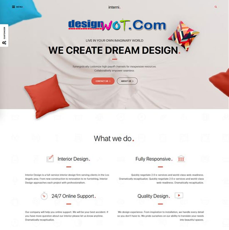 Interni - 3D Interior and Design Studio WordPress Theme