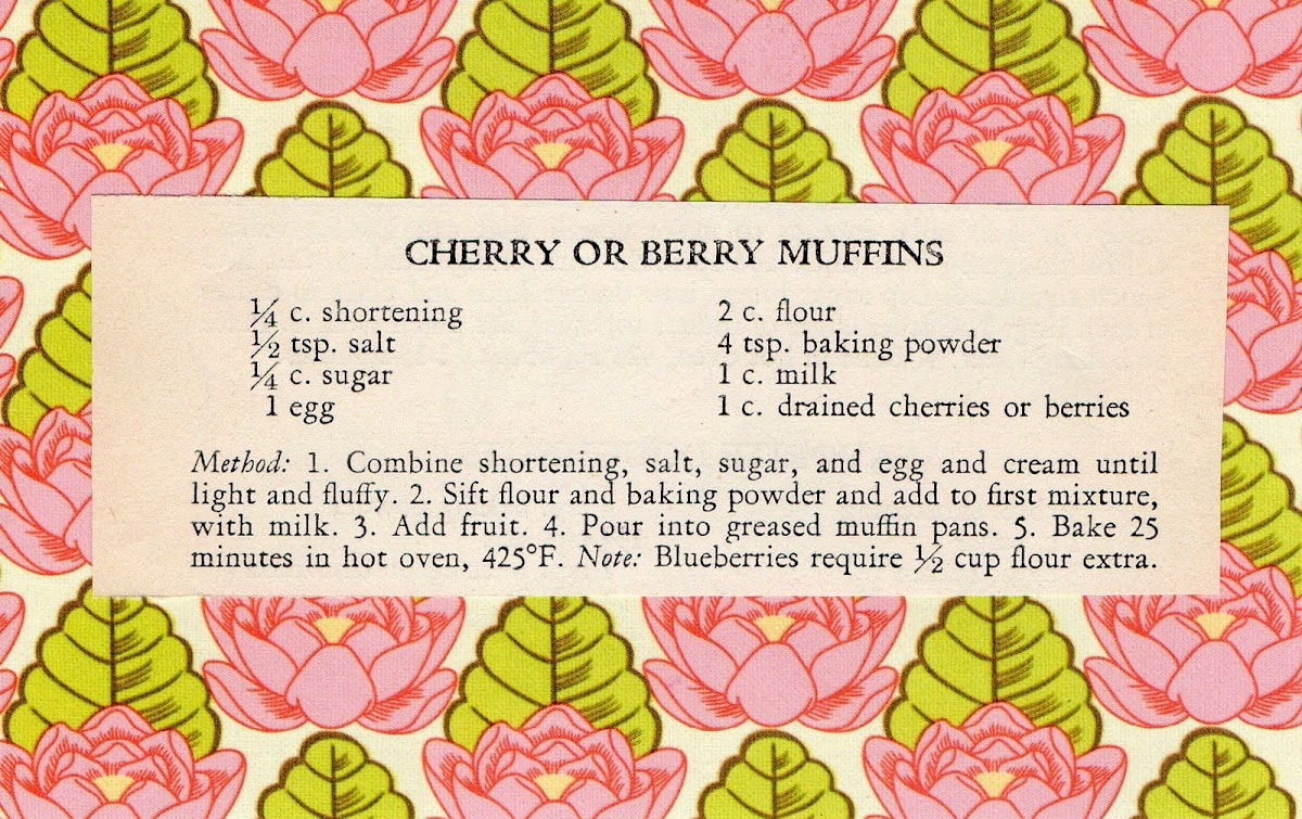 Cherry or Berry Muffins (quick recipe)