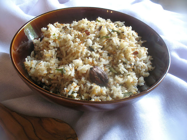 Coconut Rice with Fragrant Seeds and Spices