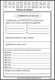 Atividade com panfleto sala de aula