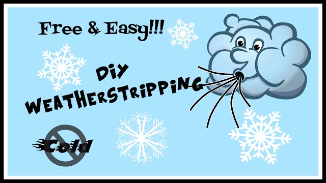 Free and Easy DIY Weatherstripping