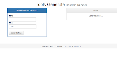 Script Random Number Generator Website