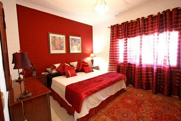 Red Bedroom Design A Distinctive Design