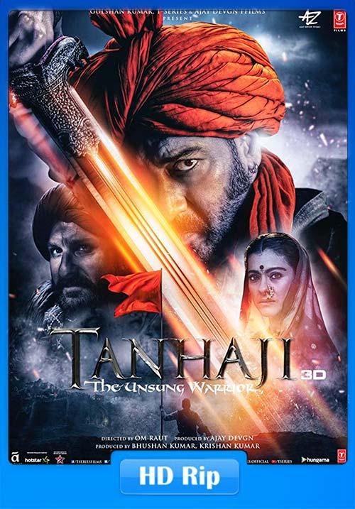 Tanhaji The Unsung Warrior 2020 WebRip Hindi 720p ESub x264 | 480p 300MB | 100MB HEVC