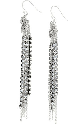 Jewelry Knock Off Stella Dot Rhinestone Chain Earrings My