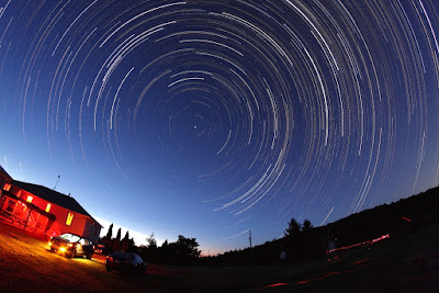 star trails from the CAO