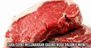 Cara cepat Melunakkan Daging Beku Dalam 5 Menit