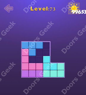 Cheats, Solutions, Walkthrough for Move Blocks Easy Level 73