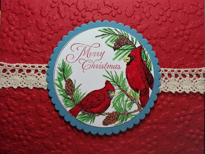 ODBD Cardinal Ornament, ODBD Customer Card of the Day Created by Sue Craig aka bensarmom