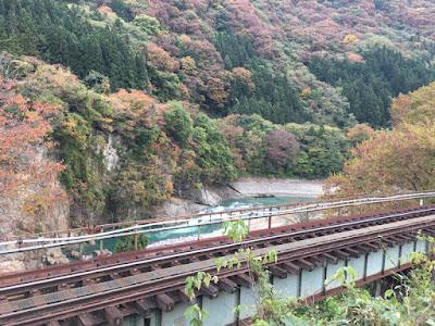湯野上温泉 民宿すずき屋前の風景