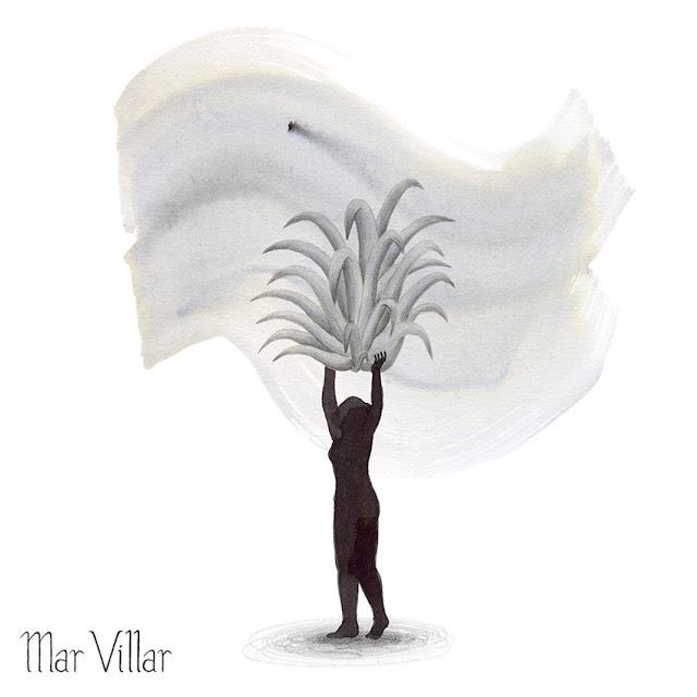 Inktober, Inktober 2016, plantas, tillandsia, ilustración a tinta, silueta humana, tinta, aguada de tinta, quink, tinta parker