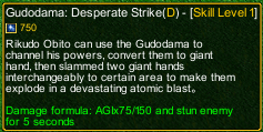 naruto castle defense 6.0 Gudodama: Desperate Strike detail