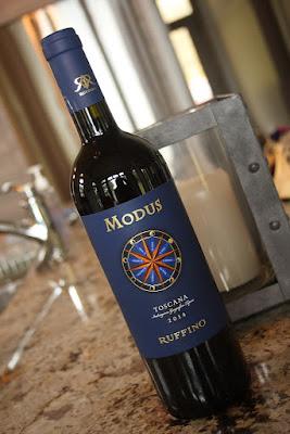 bottle of Modus wine