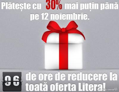 30% reducere la carti, litera.ro
