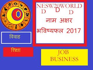 डी नाम अक्षर  भविष्यफल, d name horoscope 2017, d name rashifal 2017 in hindi,