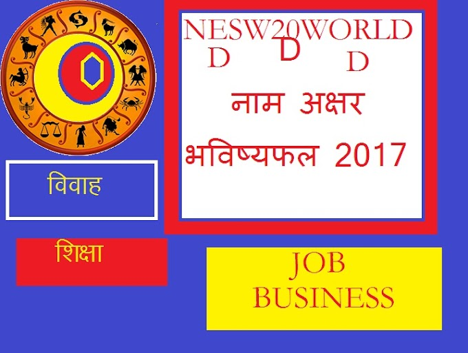 नाम अक्षर  भविष्यफल, d name horoscope 2017, d name rashifal 2017 in hindi,