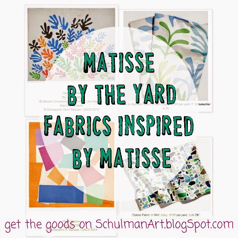 #matisse #fabrics http://schulmanart.blogspot.com/2014/07/matisse-by-yard.html
