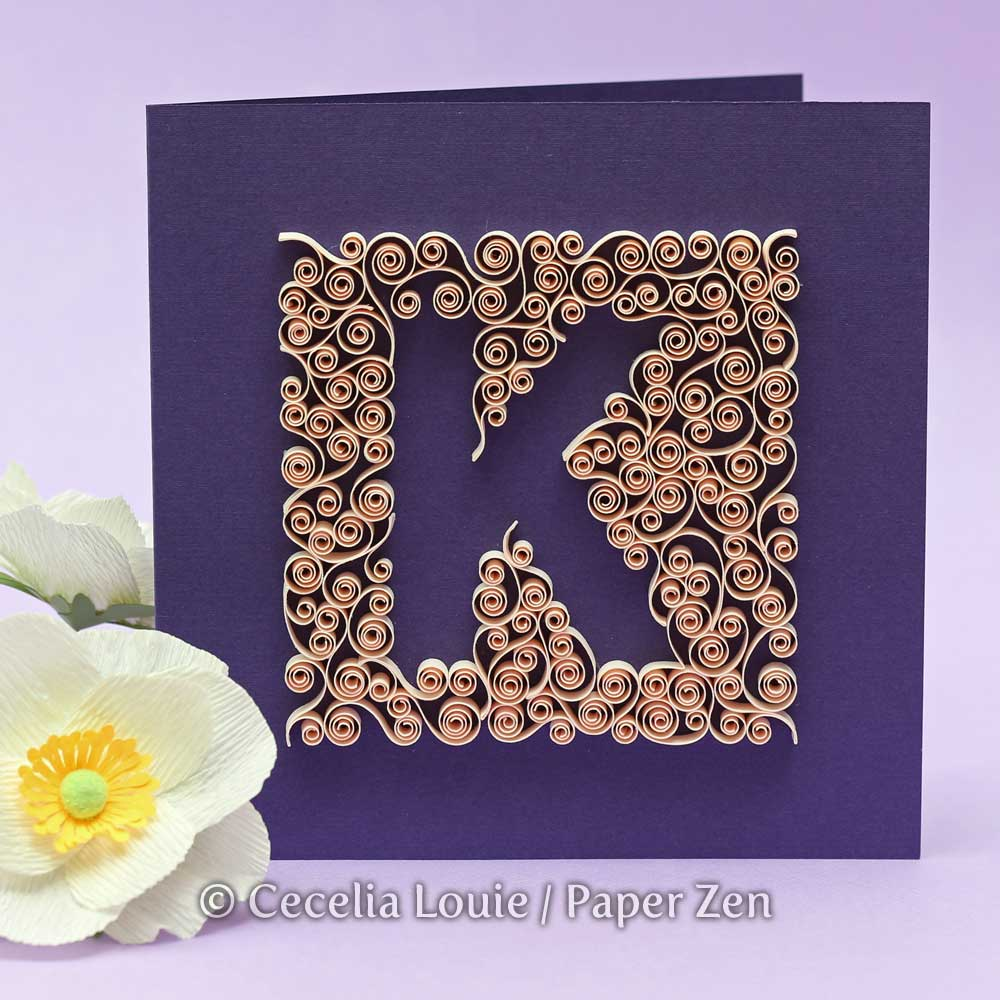 Paper Zen: Quilling Letter K - Negative Spaces for Quilling Butterfly Tutorial  156eri
