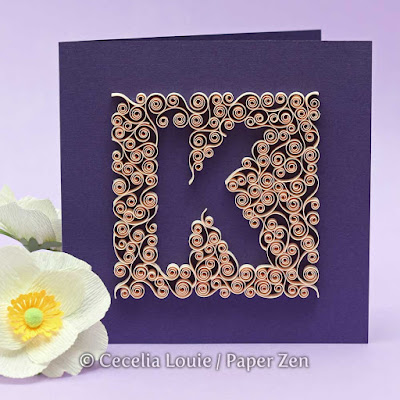 quilling tutorial letter k