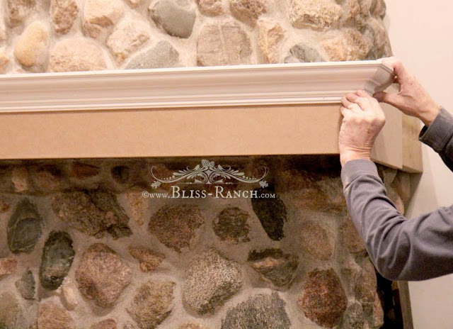 Family Room Fireplace Mantel Cabinetry with Fusion Mineral Paint, Bliss-Ranch.com