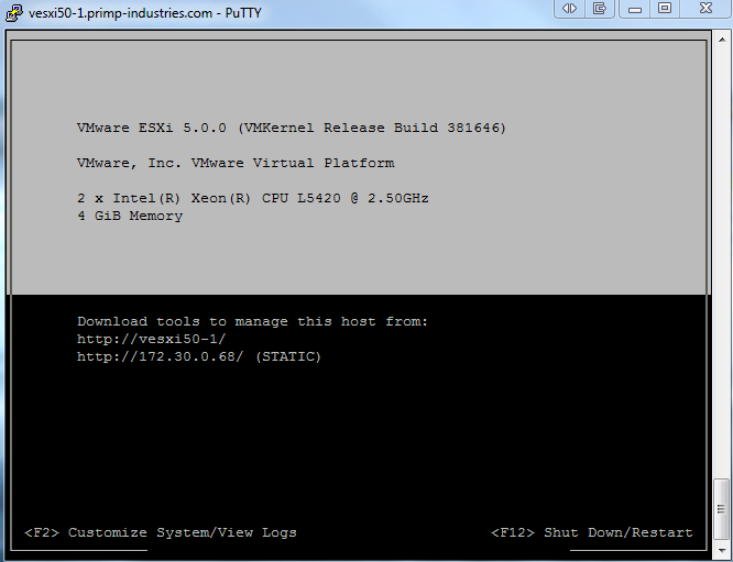 How to Add a Splash of Remote Color to ESXi Shell