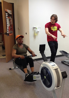 From left to right, Better Living client Lou works out with one of our newest personal trainers, Will Burchfield, at Better Living Fitness Center in Ann Arbor.