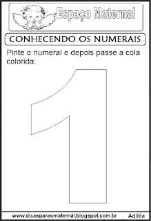 Numeral um para colorir