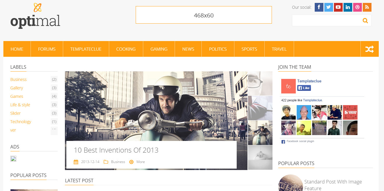 Optimal Responsive Blogger Template