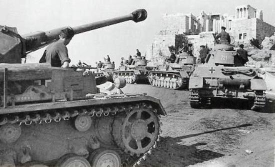 27 April 1941 worldwartwo.filminspector.com German Acropolis panzers
