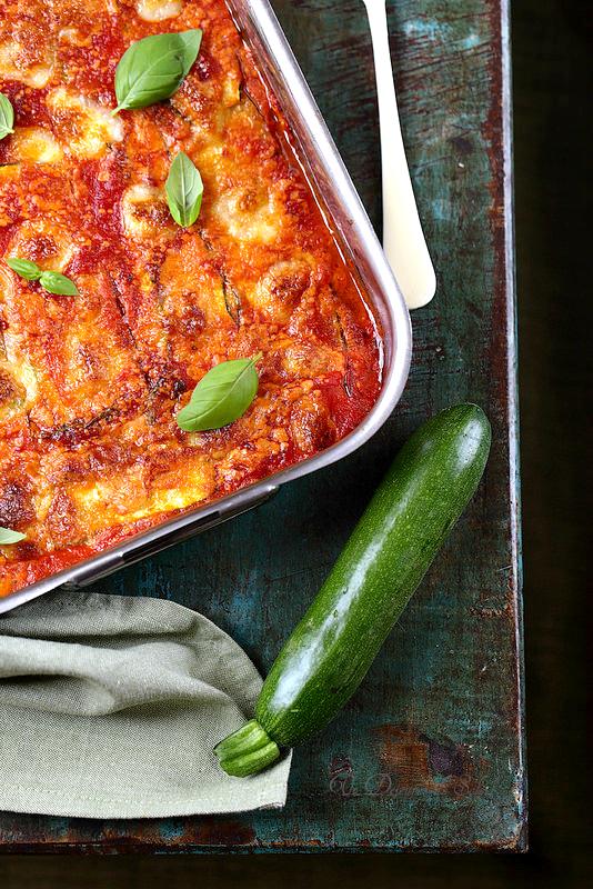 Parmigiana de courgettes (végétarien)
