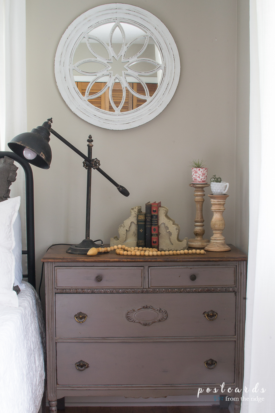 Modern farmhouse bedroom makeover