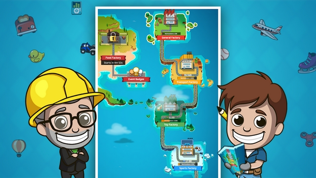 idle factory tycoon hile apk