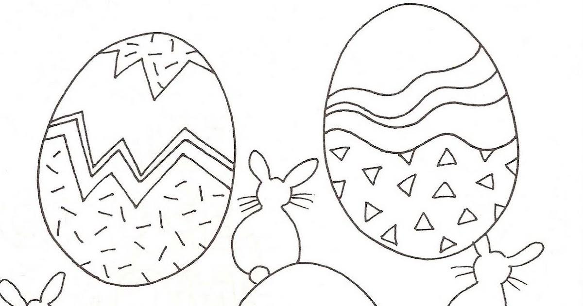 Desenhos De Lindos Ovos De Páscoa Para Colorir.