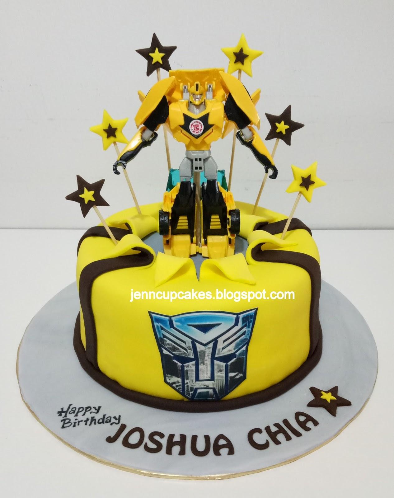 Jenn Cupcakes Muffins Transformers Bumblebee Cake