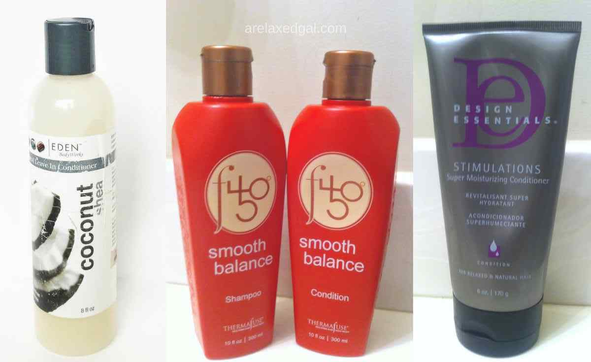 The products in my current relaxed hair regimen | A Relaxed Gal: Hair + Beauty + Blogging + Finance