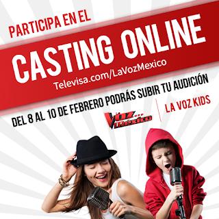Fechas del Casting Online de La Voz México 2016