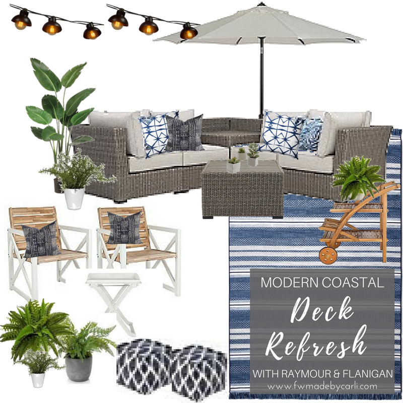 Fwmadebycarli's Modern Coastal Deck 2018 Raymour and Flanigan