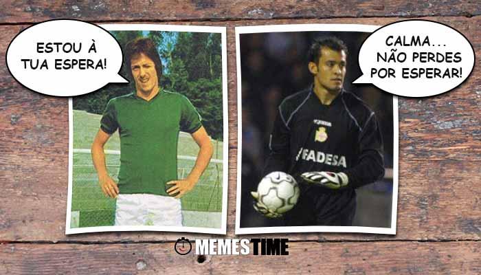 Memes Time Clássico Sporting Porto Jorge Jesus e Nuno Espírito Santos – Estou à tua Espera! Calma, não perdes por esperar!