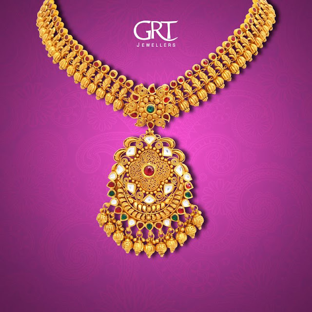 Antique Sets with Kundan Pendants by GRT