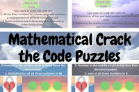 Mathematical Crack the code puzzles for kids