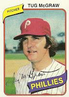 1980 Burger King Phillies #20 Tug McGraw