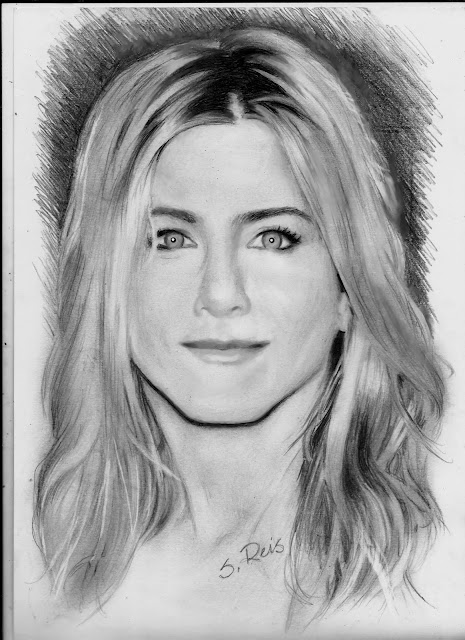 Jennifer+Aniston+portrait+drawing