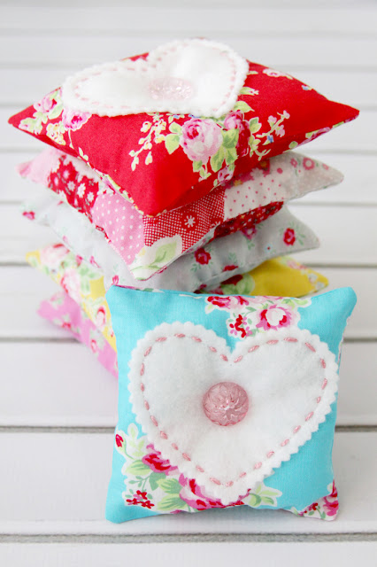Fabric and felt lavender sachets