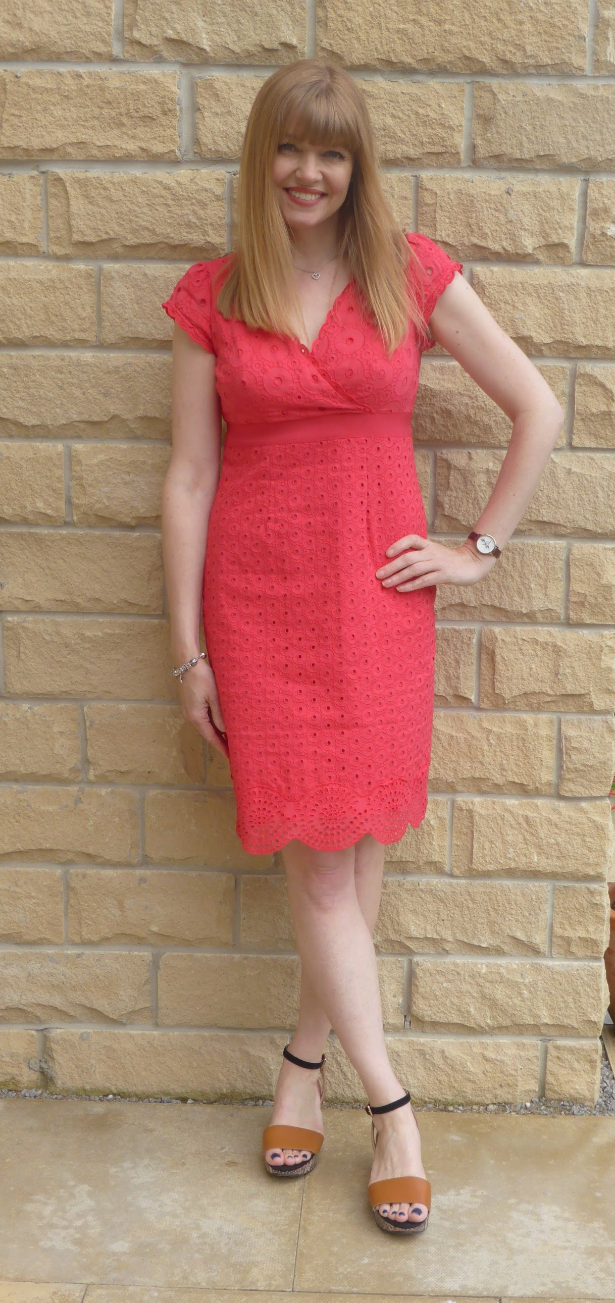 red broderie anglaise Boden dress