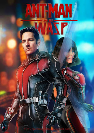 Poster Of Free Download Ant-Man and the Wasp 2018 300MB Full Movie Hindi Dubbed 720P Bluray HD HEVC Small Size Pc Movie Only At worldfree4u.com
