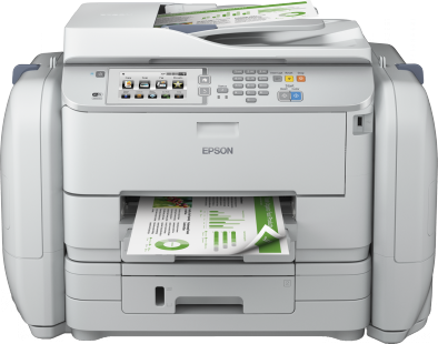 per centum less ability than competitive coloring lasers Epson Workforce Pro WF-R5690 DTWF Driver Downloads